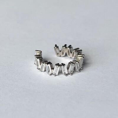 Shimmering stone ear cuff 925 sterling zilver per stuk