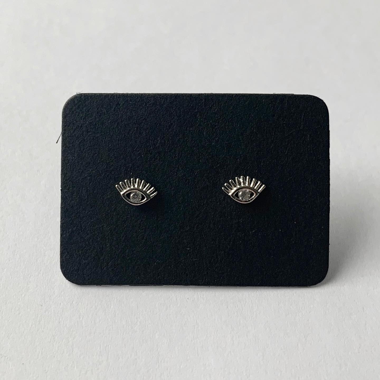 Shiny eye knopjes 925 sterling zilver