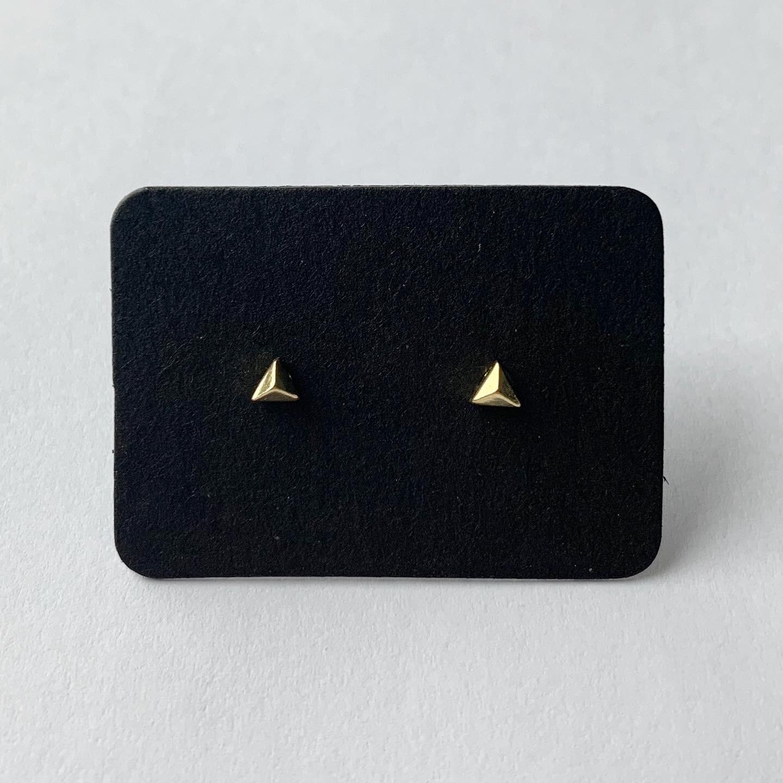 Tiny driehoek knopjes goud/925 sterling zilver