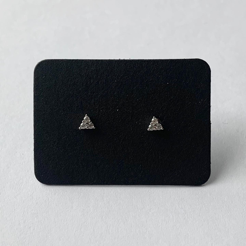 Tiny dots knopjes met strass steentjes 925 sterling zilver