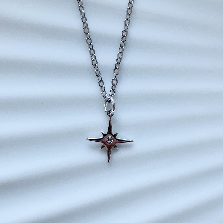 Shining star ketting zilver