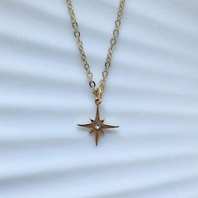Shining star ketting goud