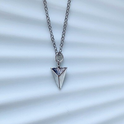 Triangle ketting zilver