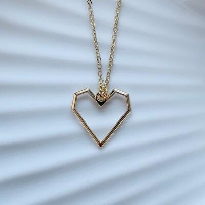 Minimalistisch hart ketting goud
