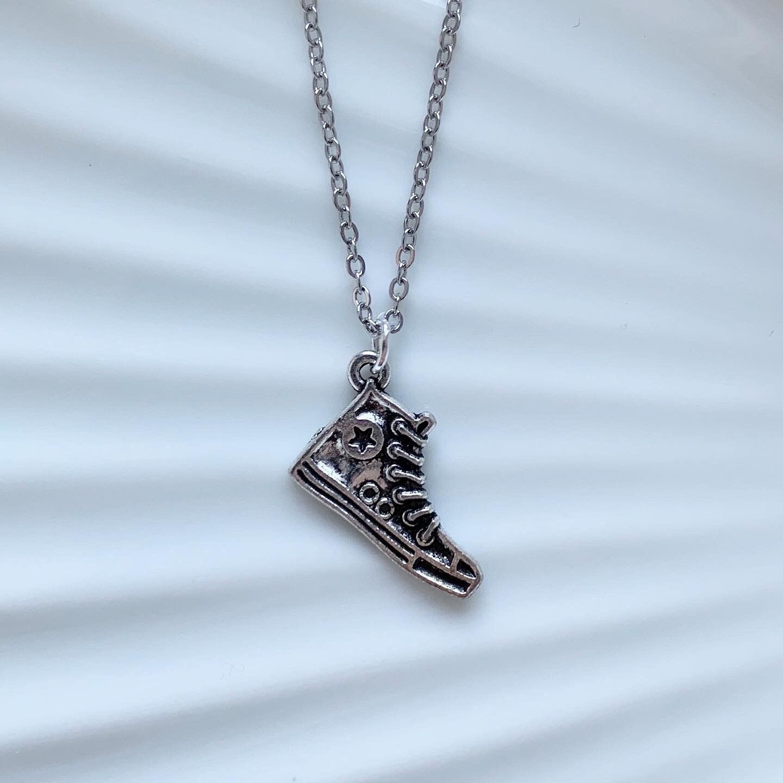 Sneaker ketting zilver