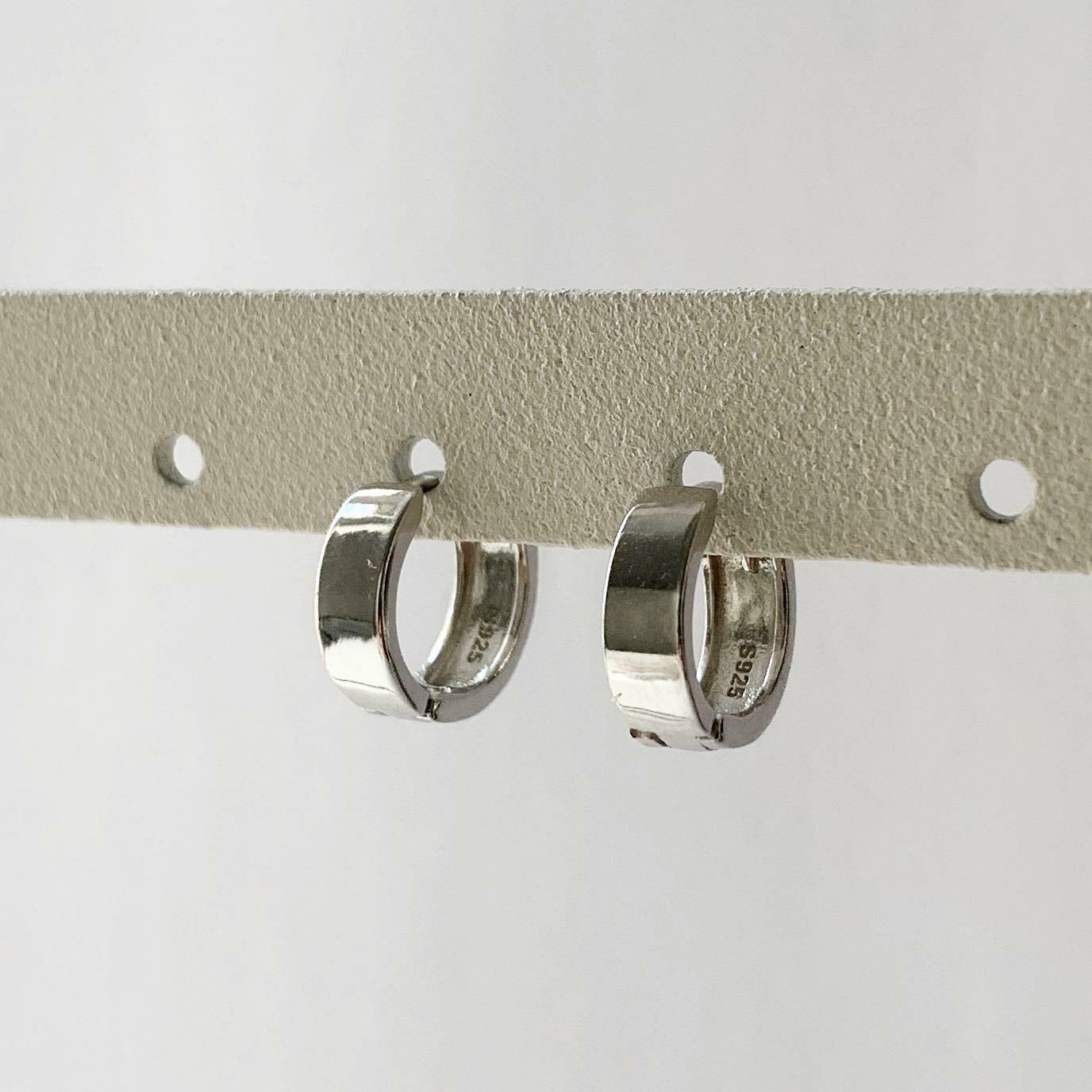 Slippery oorringetjes 925 sterling zilver 10 mm