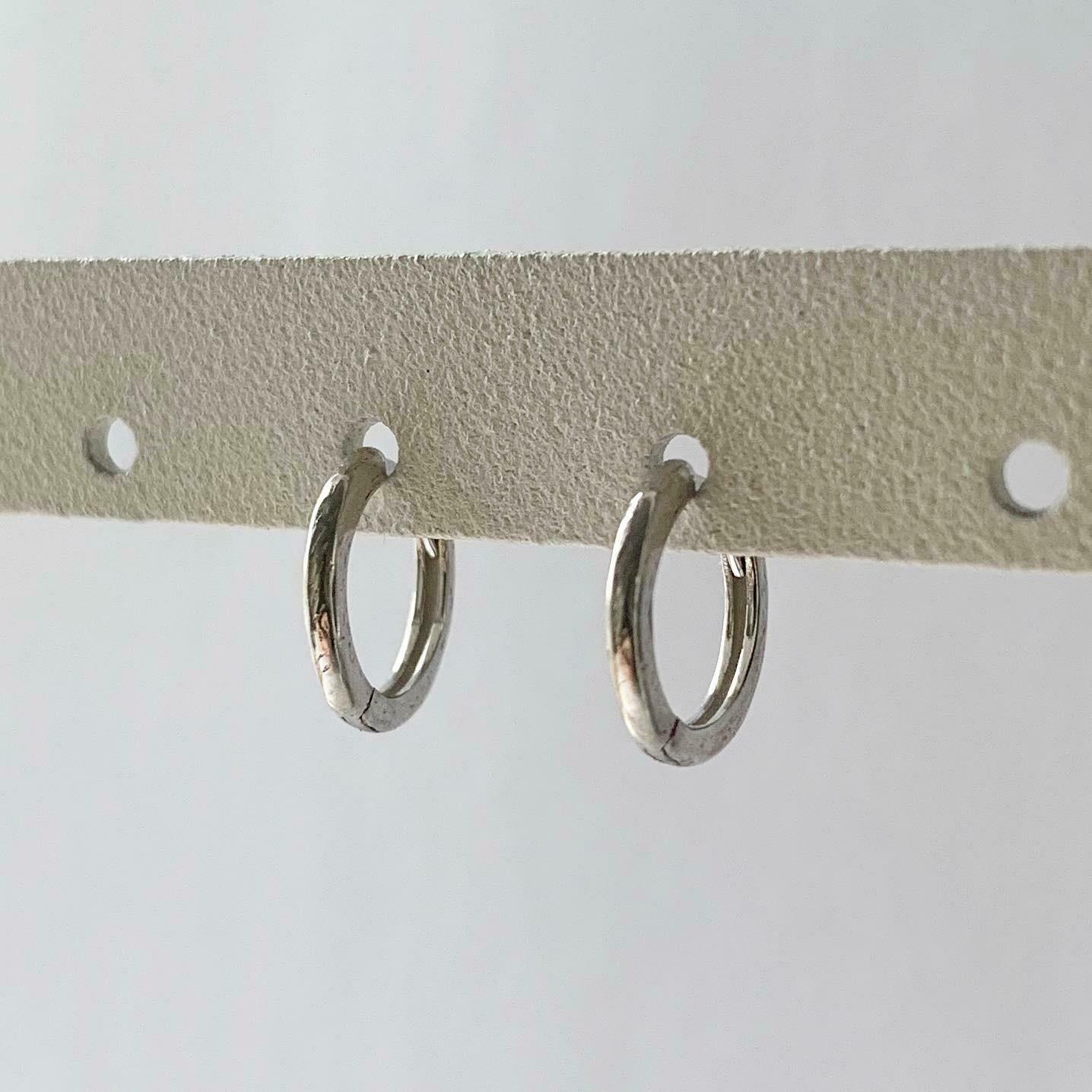 Simpele oorringetjes 925 sterling zilver 8 mm