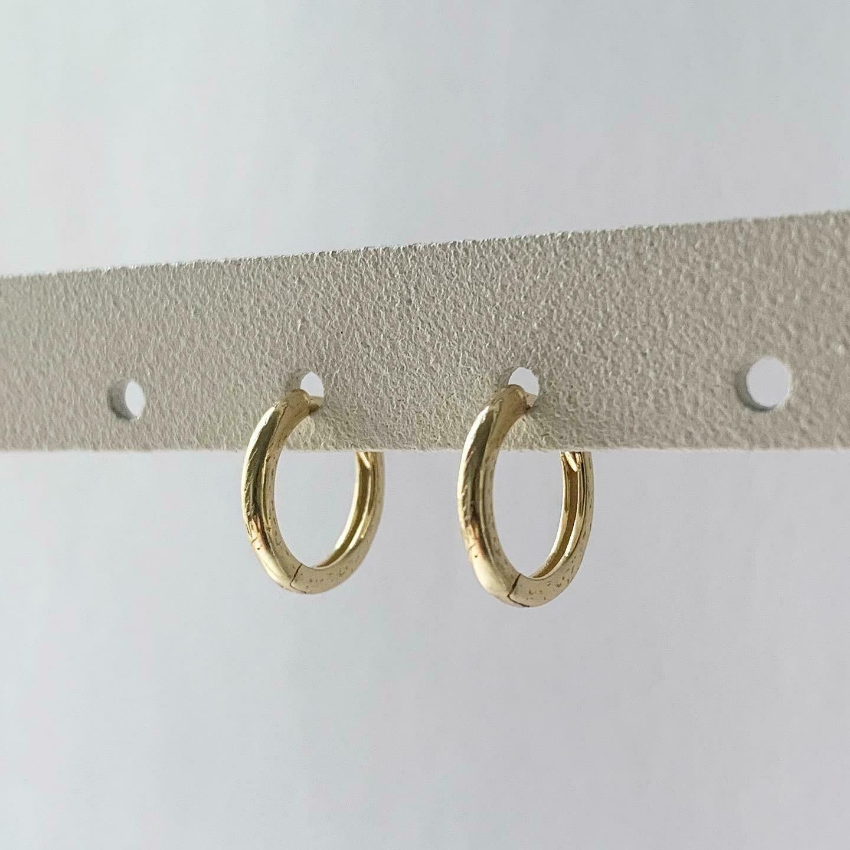 Simpele oorringetjes goud/925 sterling zilver