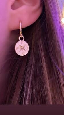 Kompas oorbellen