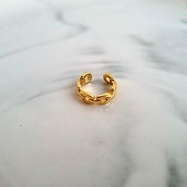 Chain ear cuff goud/925 sterling zilver