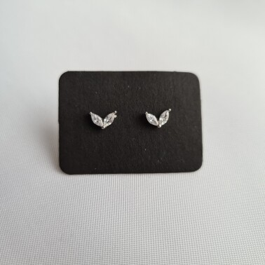 Tiny wings knopjes met steentjes 925 sterling zilver