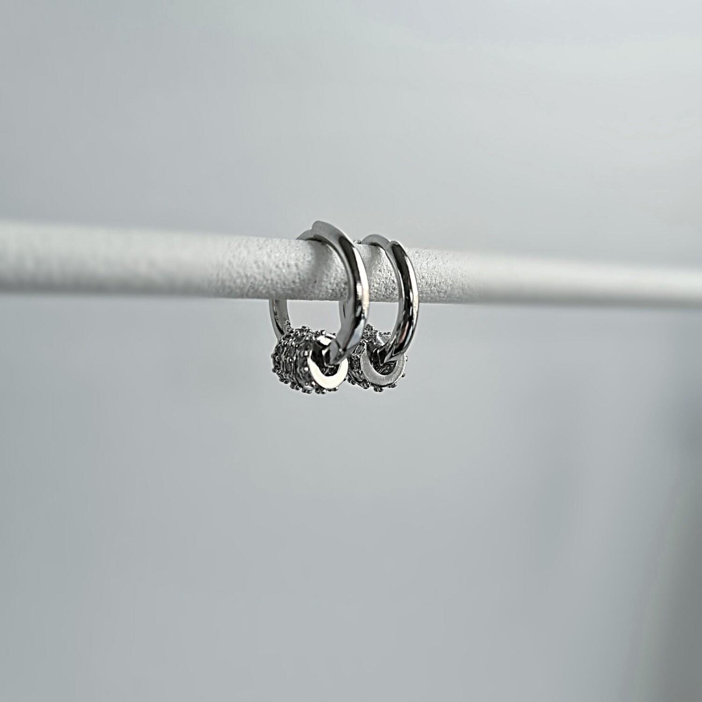 Shiny radartjes oorbellen 925 sterling zilver
