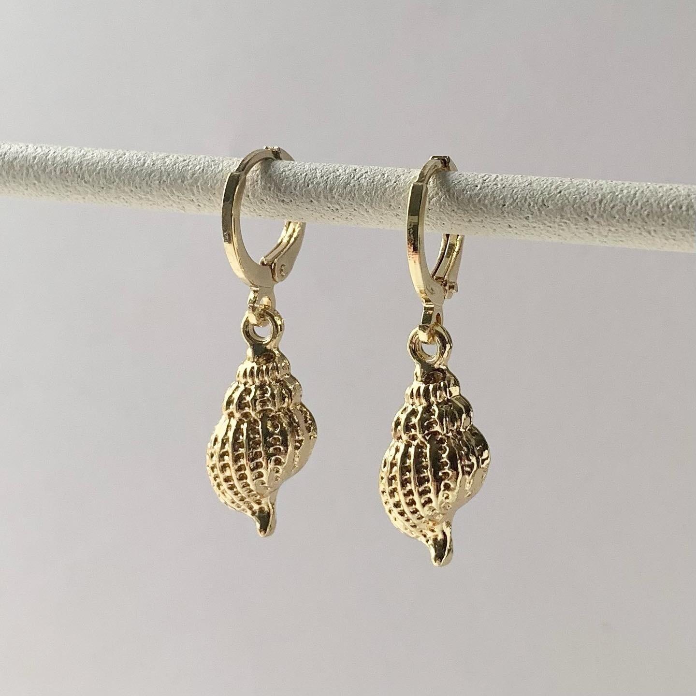 Perfect shell oorbellen goud