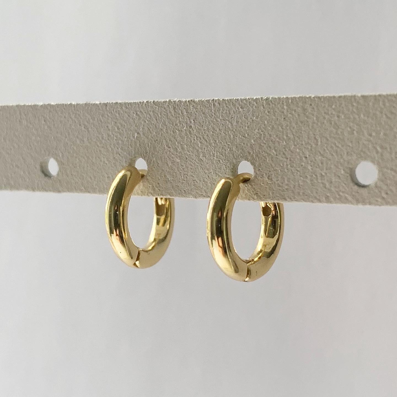 Simpele oorringetjes goud/925 sterling zilver 8 mm