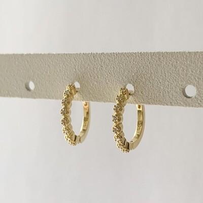 Fairy oorringetjes goud/925 sterling zilver