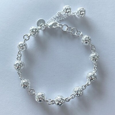 Figure beads armband 925 sterling zilver