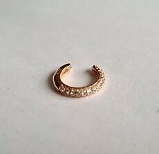 Shiny ear cuff rosé goud/925 sterling zilver