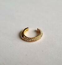 Shiny ear cuff goud/925 sterling zilver
