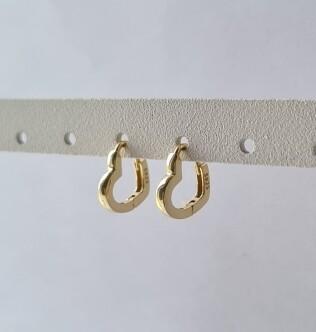 Hartjes oorringetjes goud/925 sterling zilver