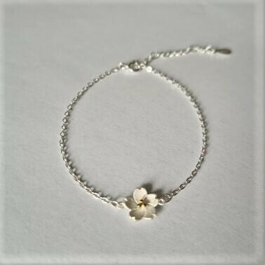 Flower armbandje 925 sterling zilver