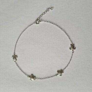 Turtle enkelbandje 925 sterling zilver