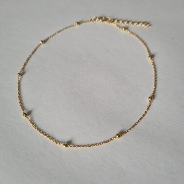 Beads enkelbandje goud/925 sterling zilver
