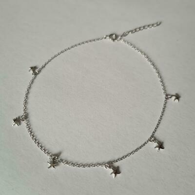 Stars enkelbandje 925 sterling zilver