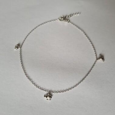 Mini olifant enkelbandje 925 sterling zilver