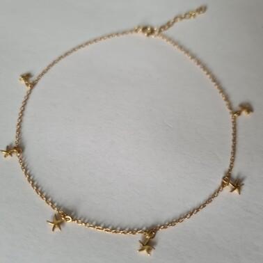Stars enkelbandje goud/925 sterling zilver