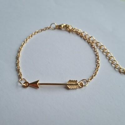Arrow armband goud