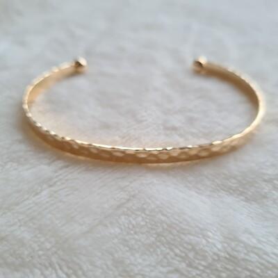 Snake print armband goud