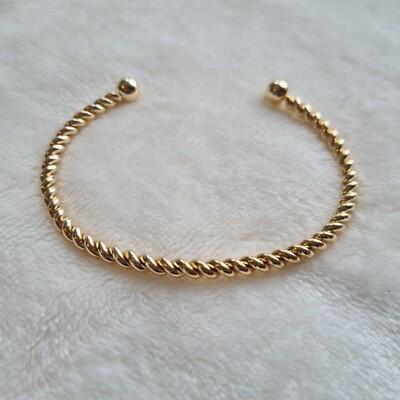 Twisted armband goud