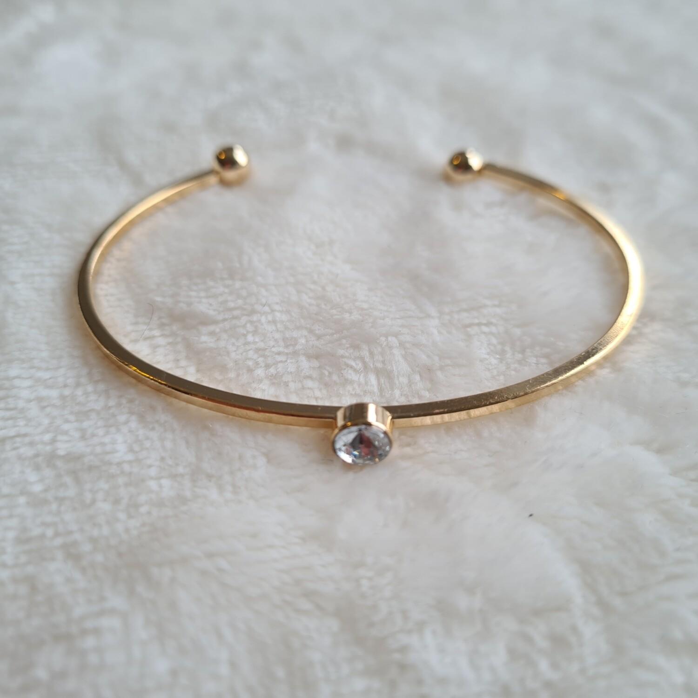 One diamant armband goud