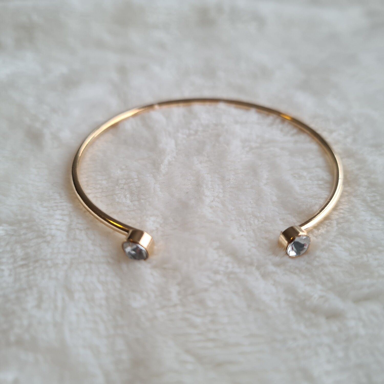 Two diamant armband goud