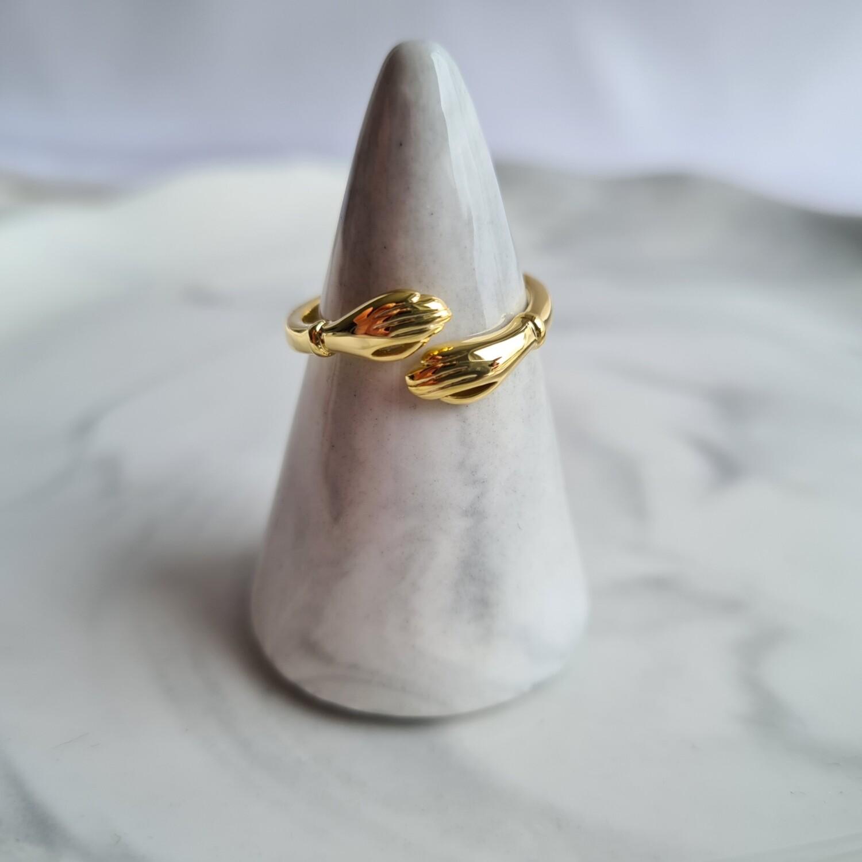 Knuffelring goud