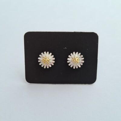 Daisy oorknopjes 925 sterling zilver