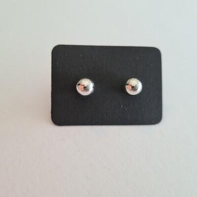 Knopjes zilver 6 mm glanzend