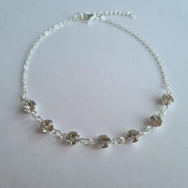 Diamantjes enkelbandje zilver