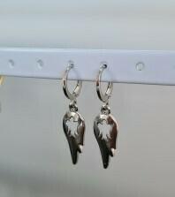 Wings oorbellen zilver