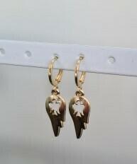 Wings oorbellen goud