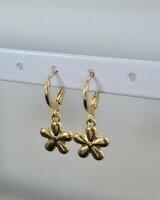Perfect flower oorbellen goud