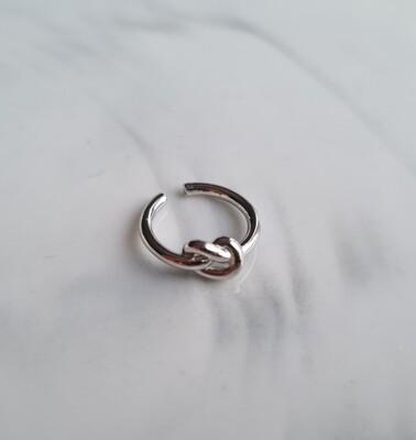 Knoopje ear cuff 925 sterling zilver