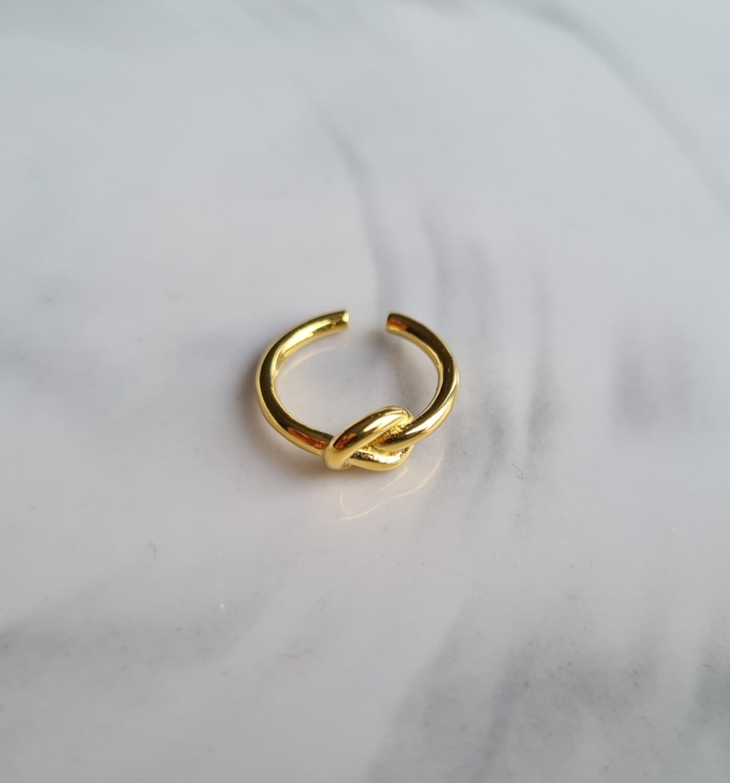 Knoopje ear cuff goud/925 sterling zilver
