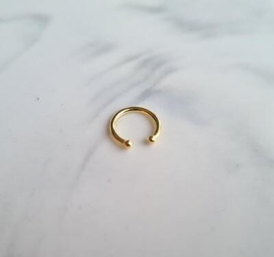 Simpele ear cuff goud/925 sterling zilver