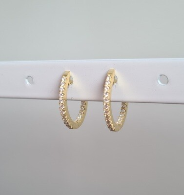 Mini sunny oorringetjes goud/925 sterling zilver