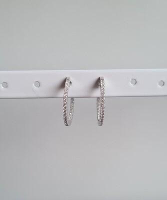 Mini sunny oorringetjes 925 sterling zilver