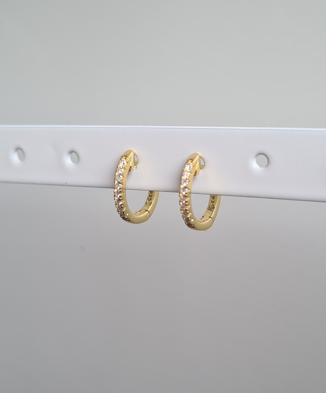 Tiny sunny oorringetjes goud/925 sterling zilver