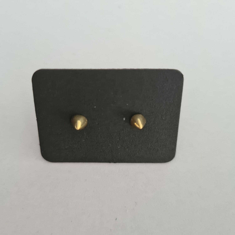 Spike oorknopjes goud/925 sterling zilver