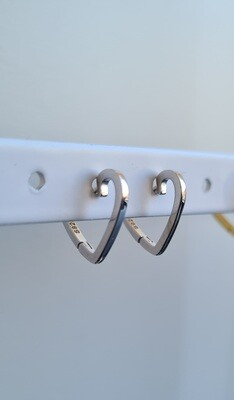Smooth heart oorringetjes 925 sterling zilver