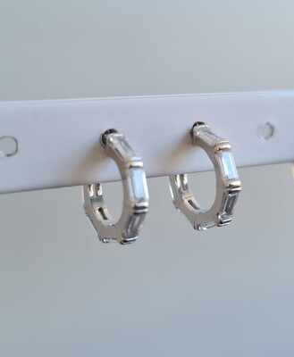 6 staafjes oorbellen 925 sterling zilver